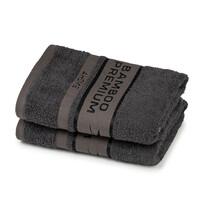 4Home Ručník Bamboo Premium tmavě šedá, 30 x 50 cm, sada 2 ks