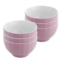 Florina Sada keramických misek Basima 14 cm, 6 ks, růžová
