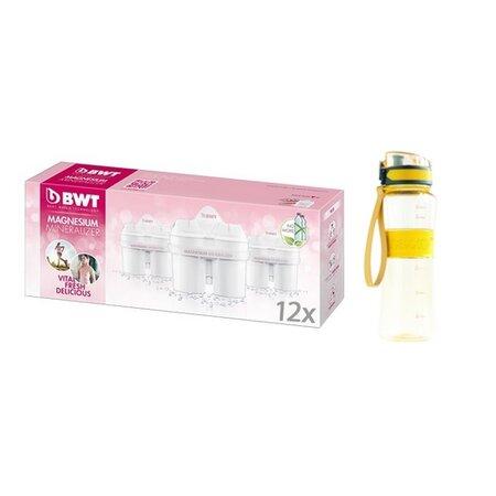 BWT Náhradní filtry 12 ks s dárkem - sportovní láhev 600 ml