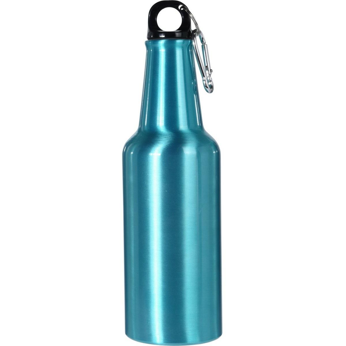 Športová hliníková fľaša s uzáverom 600 ml, tyrkysová
