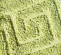 Koupelnová předložka žakárová, zelená