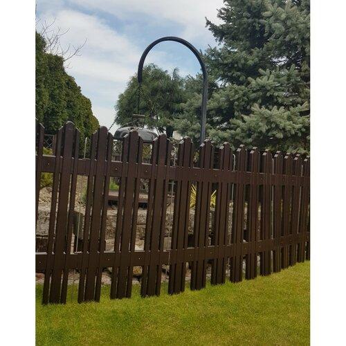 Záhradný plôtik Mega hnedá, 4,7 m