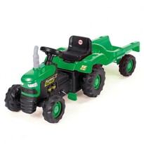 Dolu Traktor dziecięcy na pedały z przyczepką, zielony