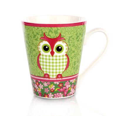OWL Porcelánový hrnek 300 ml v dárkové krabičce