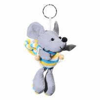 Compass Brelok odblaskowy 3D Mysz, srebrny