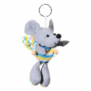 Reflexní 3D přívěšek Myš, stříbrná