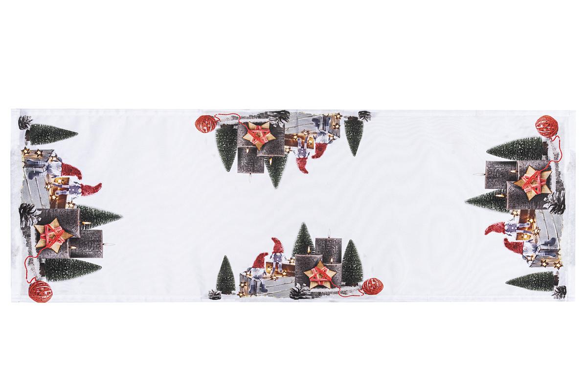BO-MA Trading Vánoční běhoun Adventní svícen, mix farieb