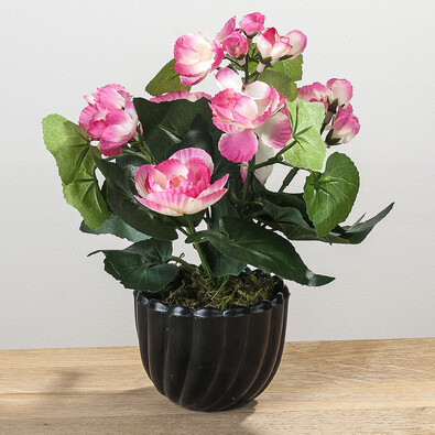 Umělá květina begónie růžová