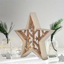Solight LED vianočná hviezda, 29 cm, teplá biela
