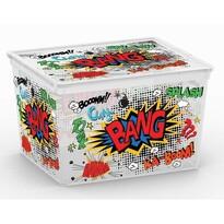 KIS Dekoračný úložný box C Box Comics Cube, 27 l