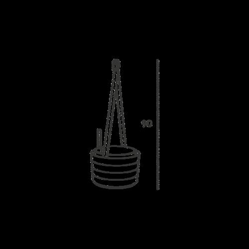 Plastia Samozavlažovací závěsný květináč Berberis šedomodrá + bílá, pr. 26 cm