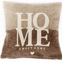 Poszewka na poduszkę Home brązowy, 45 x 45 cm
