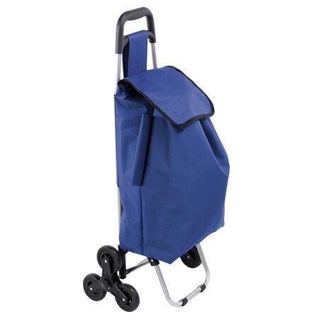 Nákupní taška na kolečkách Koop modrá