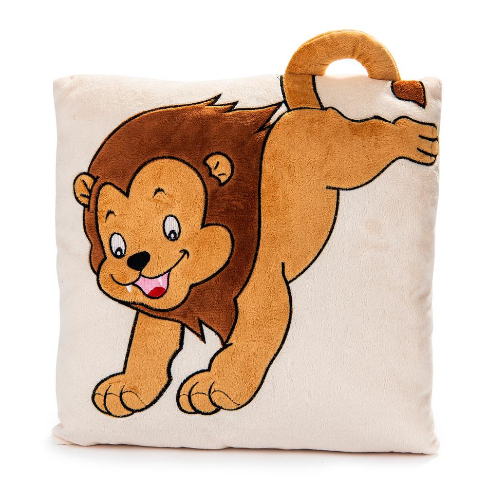 BO-MA Trading Vankúš s uchom lev, 33 x 33 cm