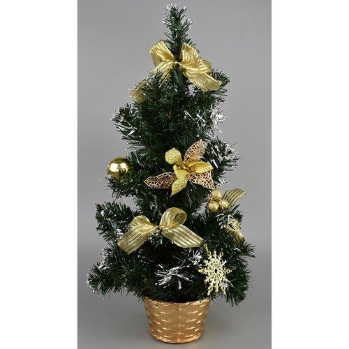 Vianočný stromček Dimmitt zlatá, 31 cm