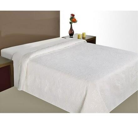 Přehoz na postel Claudia, bílá, 240 x 260 cm