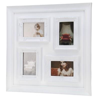 Fotorámeček na 4 fotografie bílá