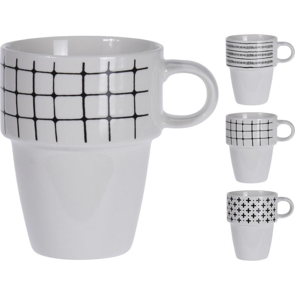 Sada porcelánových hrnků Tano, 4 ks