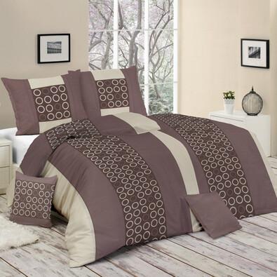 Bavlněné povlečení Ariana fialová, 140 x 200 cm, 70 x 90 cm