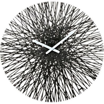 Nástěnné hodiny Silk černá