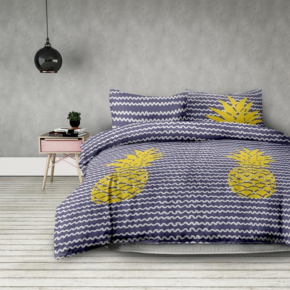 AmeliaHome Obliečky Pineapple, 140 x 200 cm, 70 x 90 cm