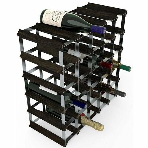 Stojan na víno RTA na 30 lahví, černý jasan - pozinkovaná ocel / rozložený
