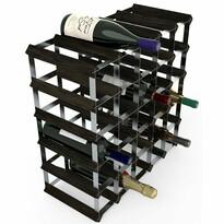 RTA Stojan na víno na 30 fliaš, čierny jaseň