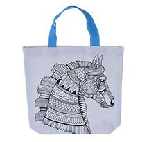 Ló kifesthető gyerek táska, 28,5 x 29 cm