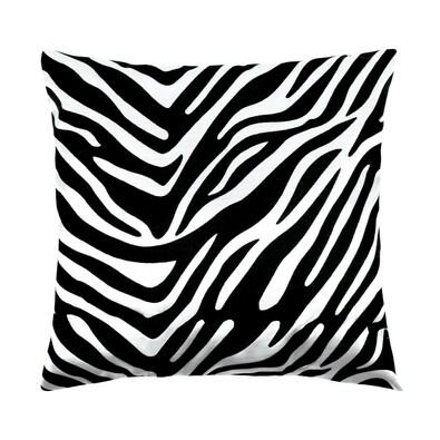 Polštářek Leona zebra černá, 45 x 45 cm