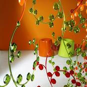 Dekorace závěs Antoinette zelená