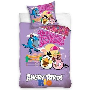 Dětské bavlněné povlečení Angry Birds Friends, 140 x 200 cm, 70 x 80 cm