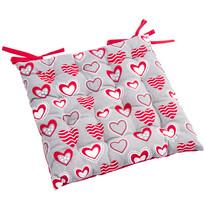 Siedzisko Hearts pikowane, 40 x 40 cm