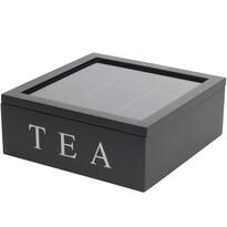 Cutie pentru pliculețe de ceai Koopman, 23 x 23 x 9 cm, negru