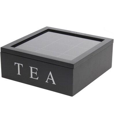 Box na čajové sáčky, černá