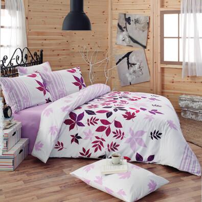 Bavlnené obliečky Nuty Lila, 140 x 220 cm, 70 x 90 cm
