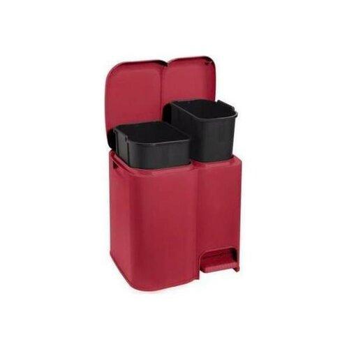 Tontarelli Koš na tříděný odpad DUO 13 + 8 l, červená