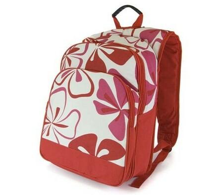 Chladící batoh, červený dekor 09018