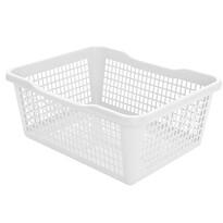 Plastový košík 41,9 x 32 x 16,8 cm, biela