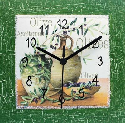 Nástěnné hodiny olivy