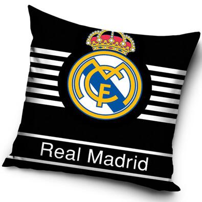Polštářek Real Madrid Black, 40 x 40 cm