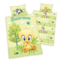 Lenjerie de pat din bumbac pentru copiii Looney  Tunes, 100 x 135 cm, 40 x 60 cm