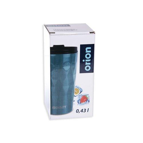 Orion Cestovní hrnek s víčkem 430 ml, tyrkysová