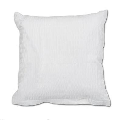 Povlak na polštářek krep bílá, 40 x 40 cm