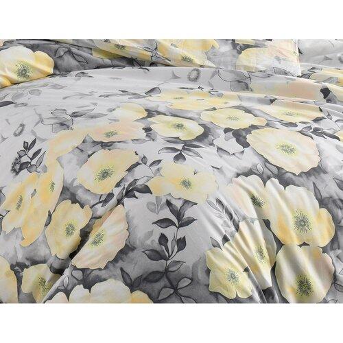 BedTex Bavlněné povlečení Alisa žlutá, 140 x 200 cm, 70 x 90 cm