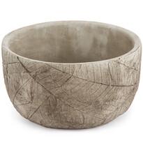 Recipient ghiveci Rustic, din beton, 18 cm, gri