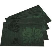 Prostírání Listy tmavě zelená, 30 x 45 cm, sada 4 ks