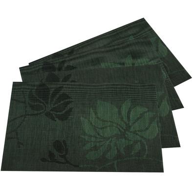 Prestieranie Listy tmavozelená, 30 x 45 cm, sada 4 ks