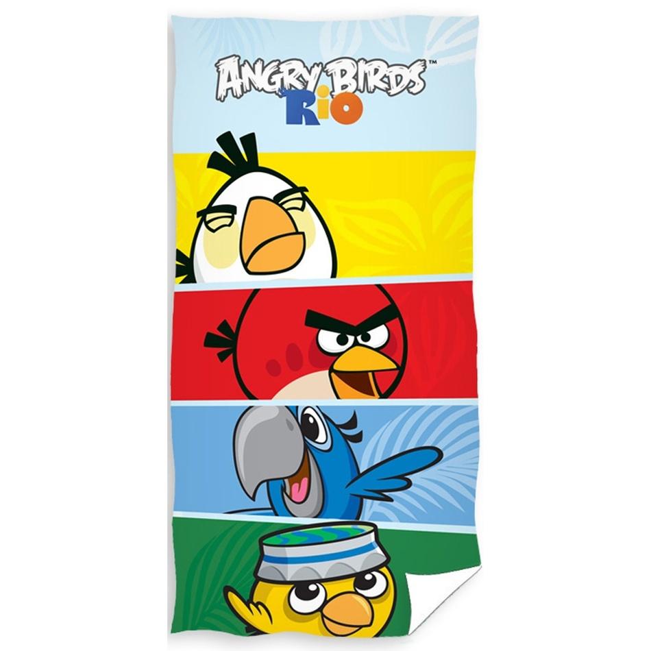 Tip Trade Osuška Angry Birds Check, 70 x 140 cm
