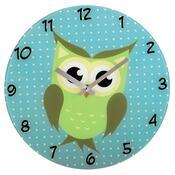 Hama nástěnné hodiny Sova, skleněné
