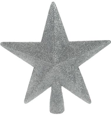 Hvězda na strom stříbrná 19 cm